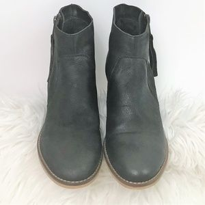 Urban Outfitters Black Leather Booties Size 8